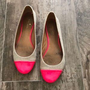Kate Spade Neon Pink Toe Ballet Flats
